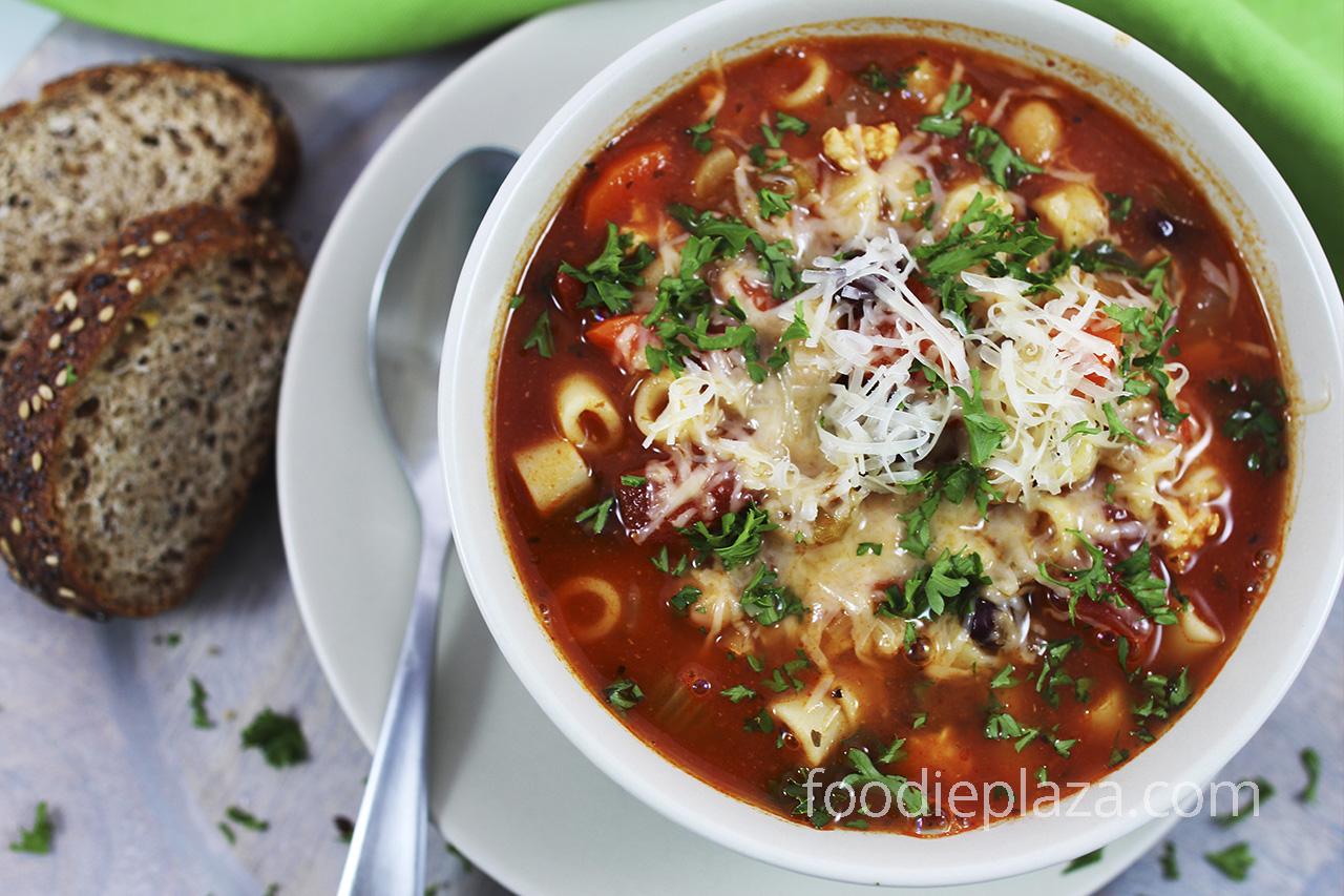 Pasta e Fagioli - итальянский суп с пастой и фасолью