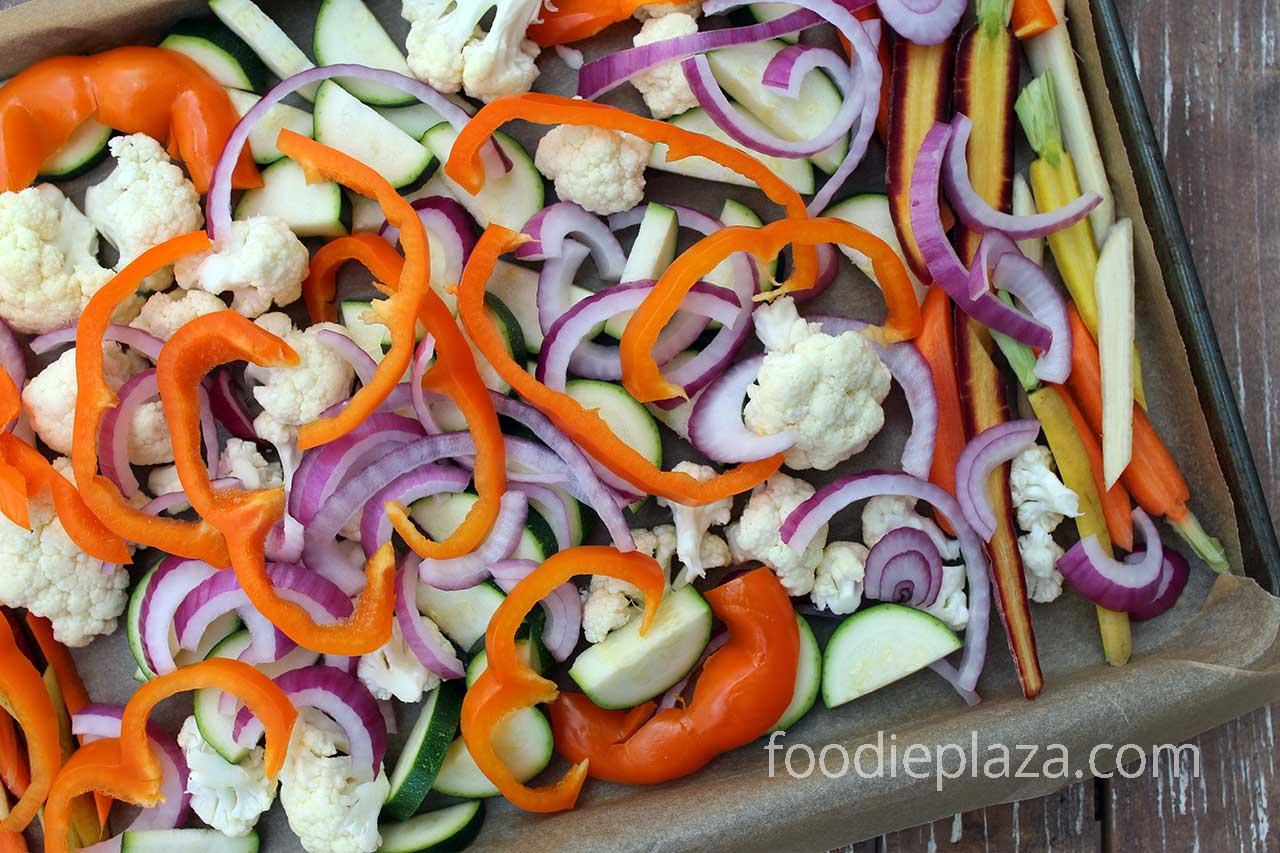 Овощи для курицы тандури