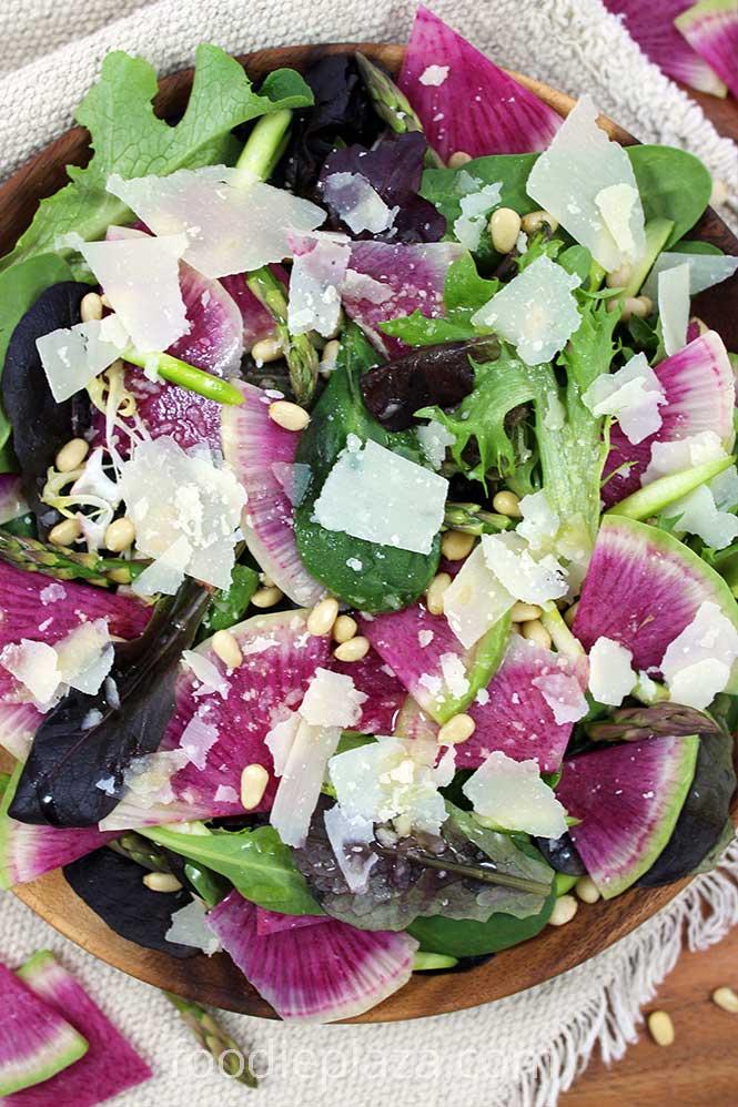 Салат из арбузного редиса (арбузной редьки)