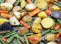 Запеченный картофель с морковью и стручковой фасолью
