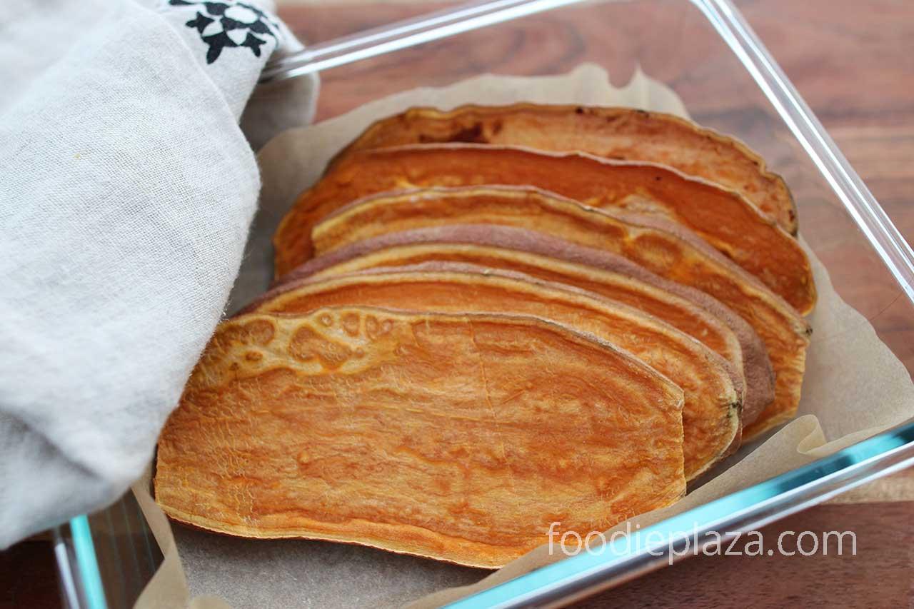 Тосты из сладкого картофеля (батата)